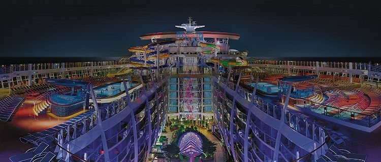 Top Deck at Night on Harmony of the Seas