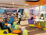 Splash Away Cafe Colorful Interior