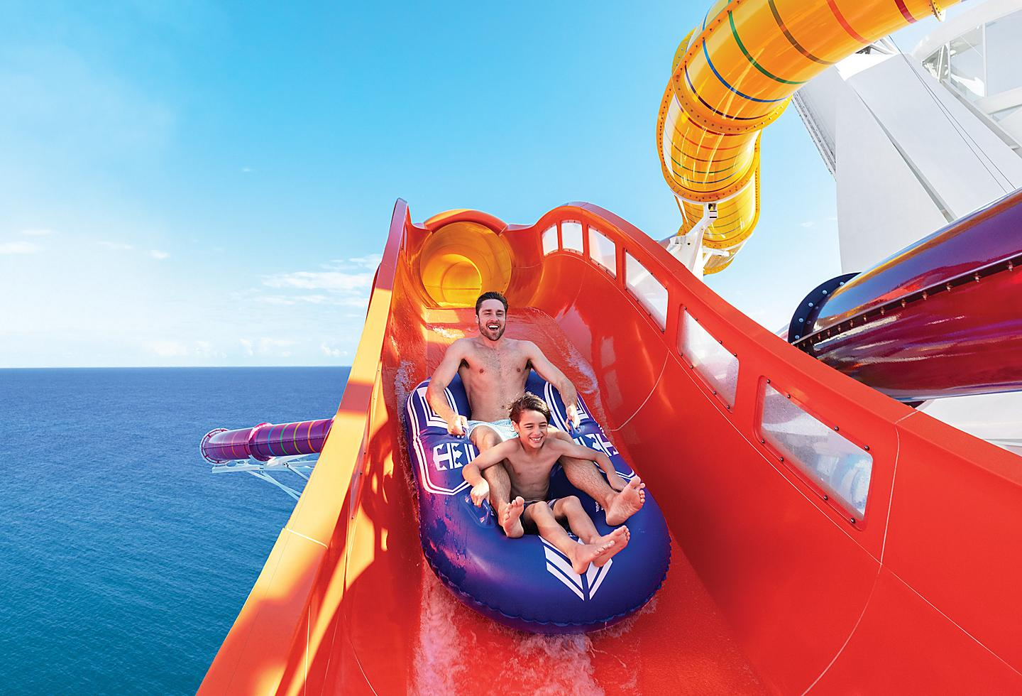 Father and son on the blaster on Navigator of the Seas.