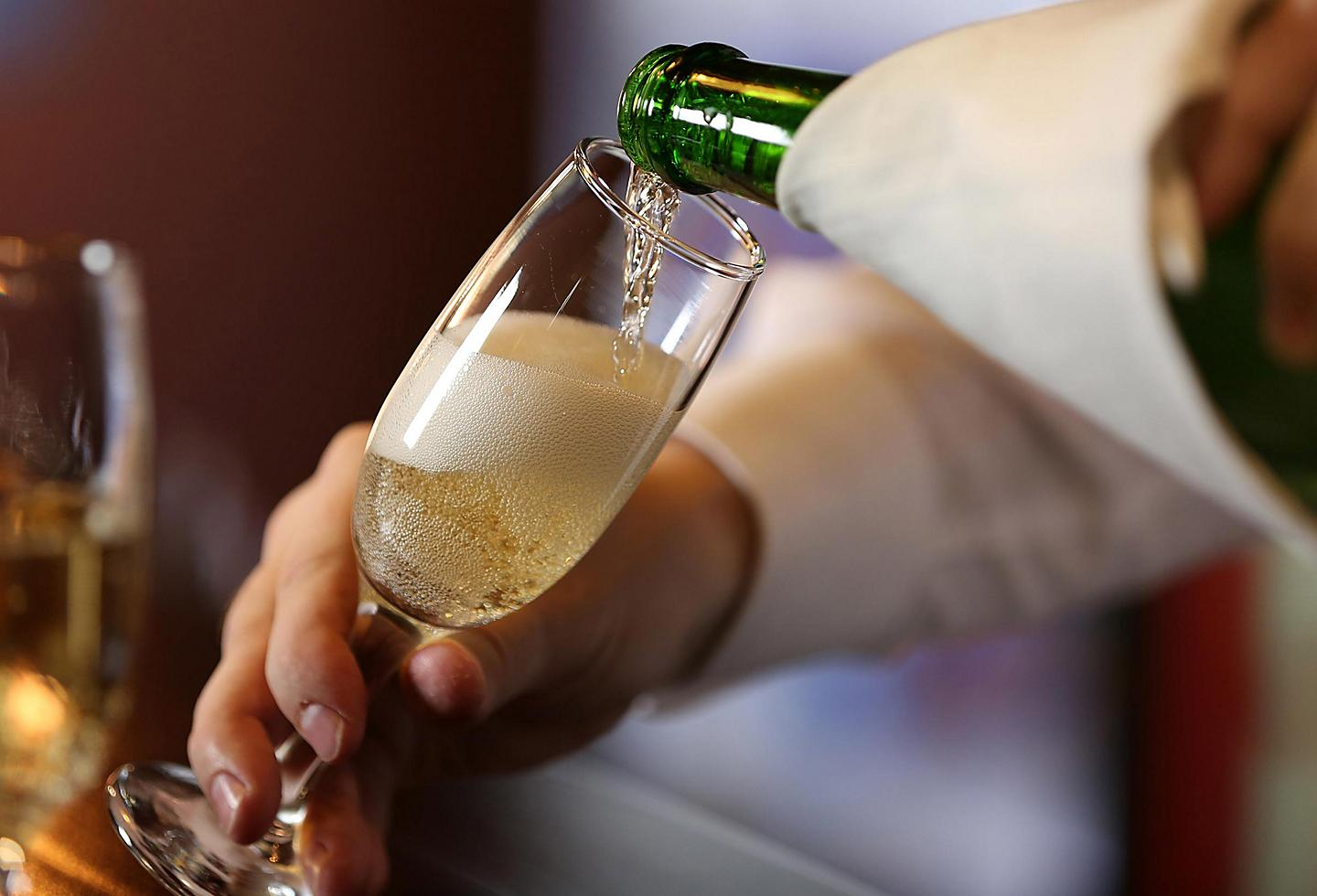 Champagne pouring for brunch