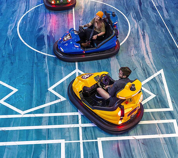 Odyssey of the Seas Bumper Cars Family Fun