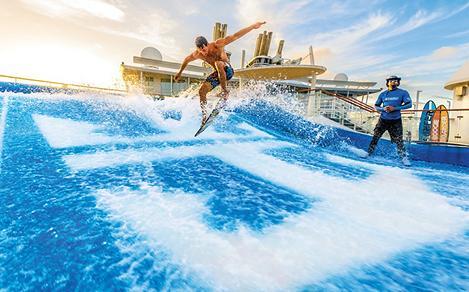 Flowrider Surf Simulator Sunset Rider Trick