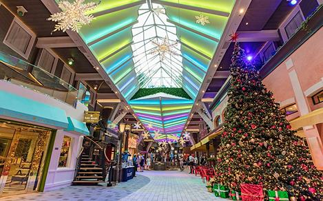 Holiday Decorations on Royal Promenade