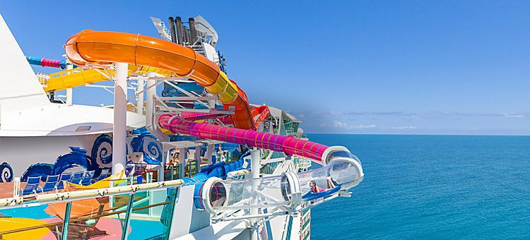 Navigator of the Seas Riptide Girl Sliding