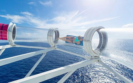 Woman Going through the Riptide on Navigator of the Seas