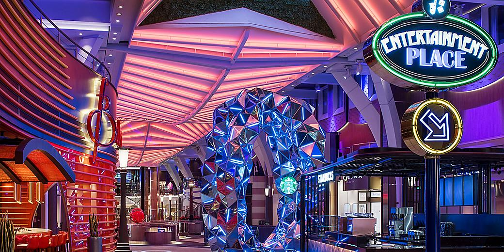 Symphony of the Seas Royal Promenade Night Time