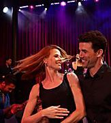 couple salsa dancing night activity