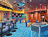 Fuel disco, Teen or enchantment of the seas Disco, club, lounge. bar, bar stools, chairs, tv, foosball, en, vision class, youth activities,