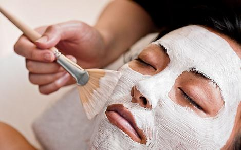 Woman Receiving a Luxurious Facial