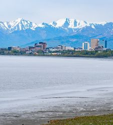 Alaska Anchorage City Landscape Mountain