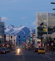 Alaska Anchorage City Street