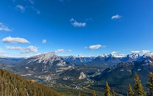 Canada Banff Sulphur Mountain Views