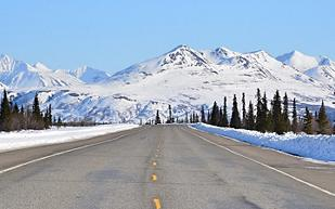 Alaska Fairbanks Scenic Highway Glacier