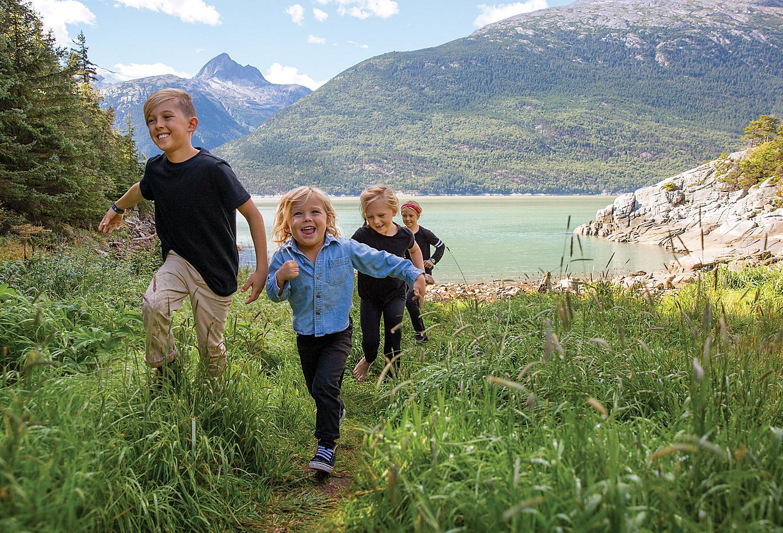 Alaska Family Kids Hiking
