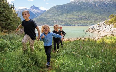 Alaska Family Kids Hiking