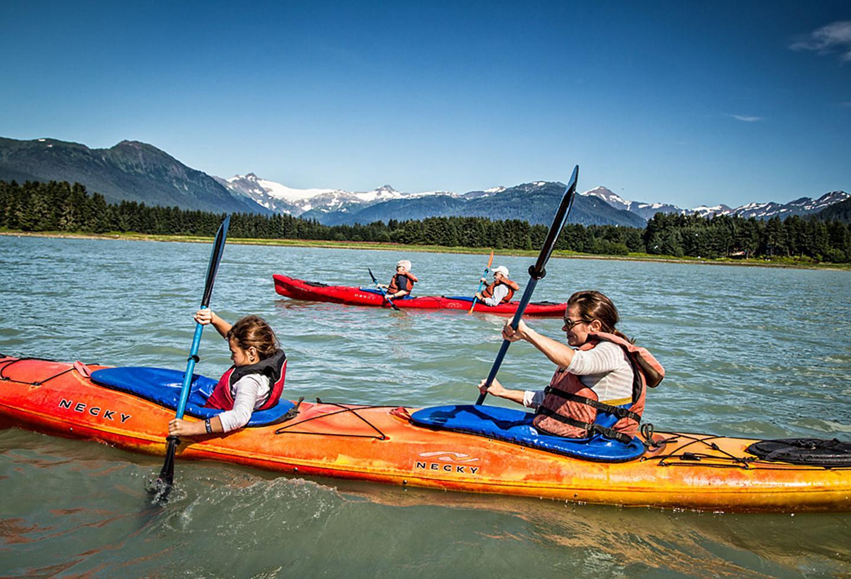 Alaska Juneau Family Kayaking Sumer Time
