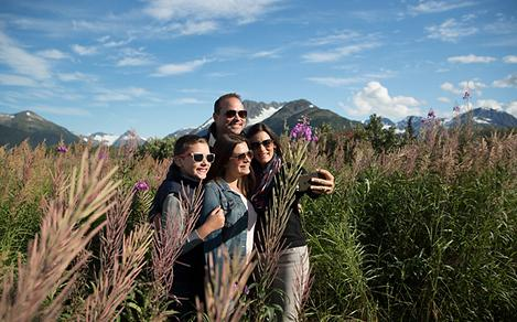 Alaska Seward Family Hiking Trail Picture