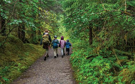 juneau alaska kids hiking woods