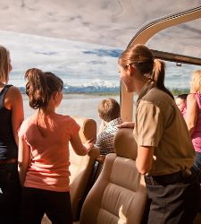 Alaska Cruise Tours Family at Glaciers