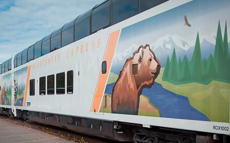 alaska cruise tours train