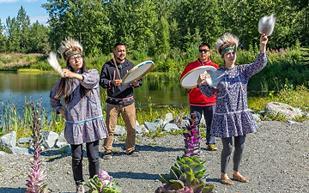 Alaska, Natives Dancing