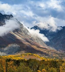 Dramatic View of Talkeetna Mountains