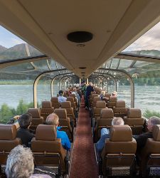 Glass Dome Rail Train in Alaska