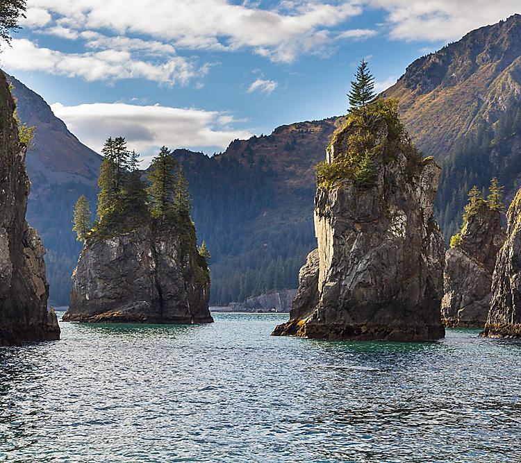 Spire Cove at Kenai Fjord National Park.