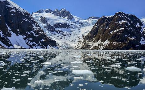 Tidewater Glacier in Kenai Fjords Park