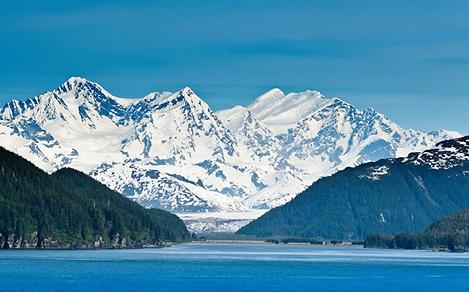 Inside Passage View of Majestic Mountains