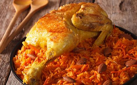 Close-Up of Traditional Arabic Chicken Breast