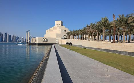 Panoramic View of Qatar's Museum of Islamic Art