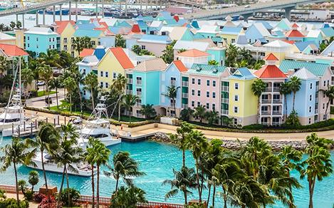 Bahamas Nassau Port Colorful Townhouses