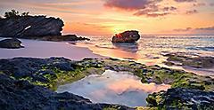 Horseshoe Bay Beach Sunset, Bermuda