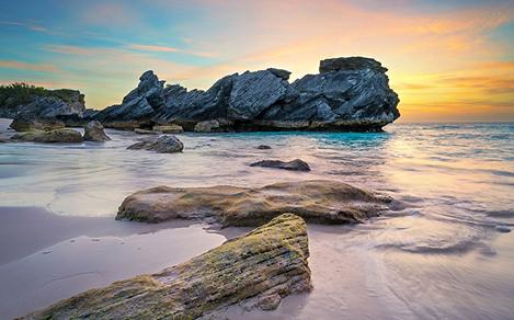 Sunset at King's Wharf Beach at Bermuda