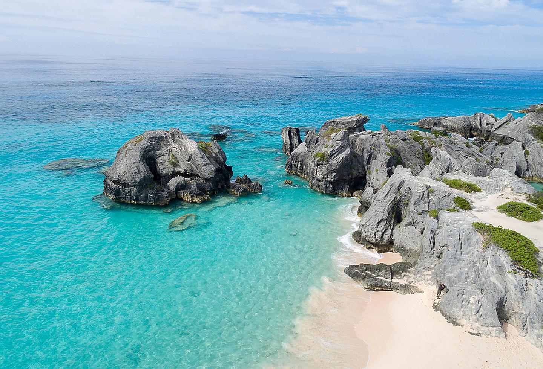 King Wharf Bermuda Sandy Beach Cliffs