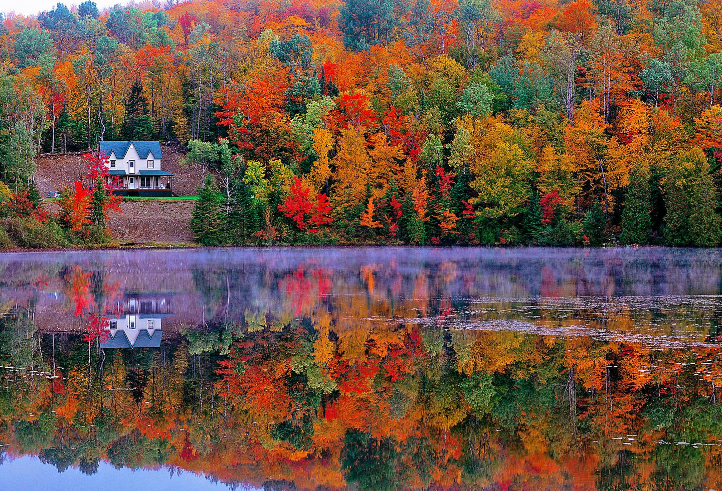 Quebec Laurentian Fall Foliage Lake