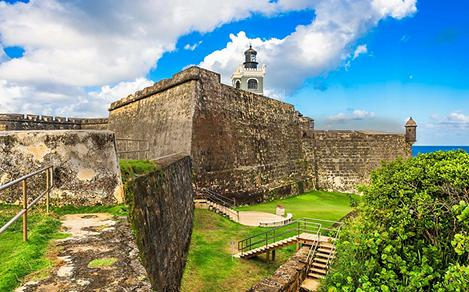 Scenic view of San Felipe del Morro Fort in Puerto Rico