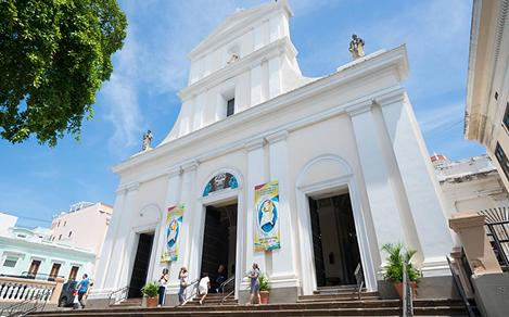 Old White Traditional Church in the Caribbean