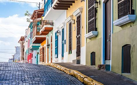 Colorful Colonial Houses in Puerto Rico