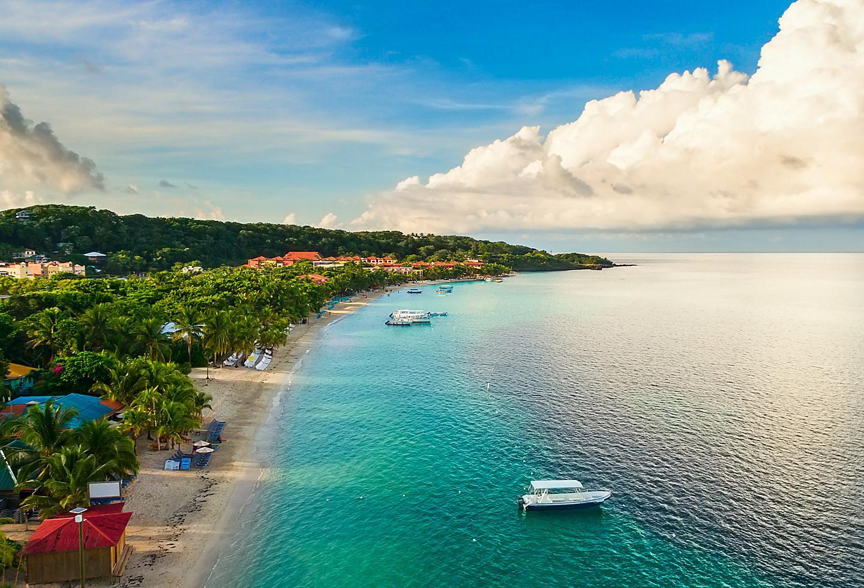 Honduras Roatan Beach Coast Boats
