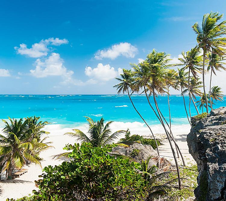 Beautiful Panoramic of Bottom Bay in Barbados.