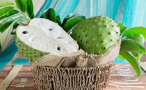 Basket with a Cut Soursop