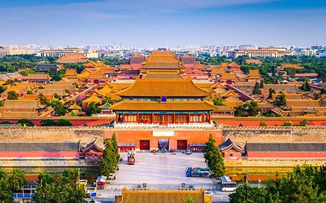 Aerial View of Forbidden City