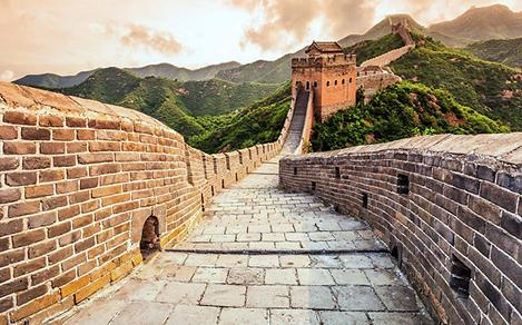 Close-Up of the Great Wall of China