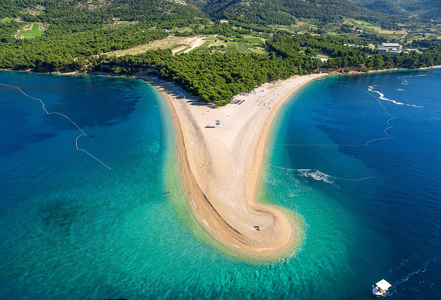 Croatia Brac Zlatni Rat Beach Triangle Clear Ocean