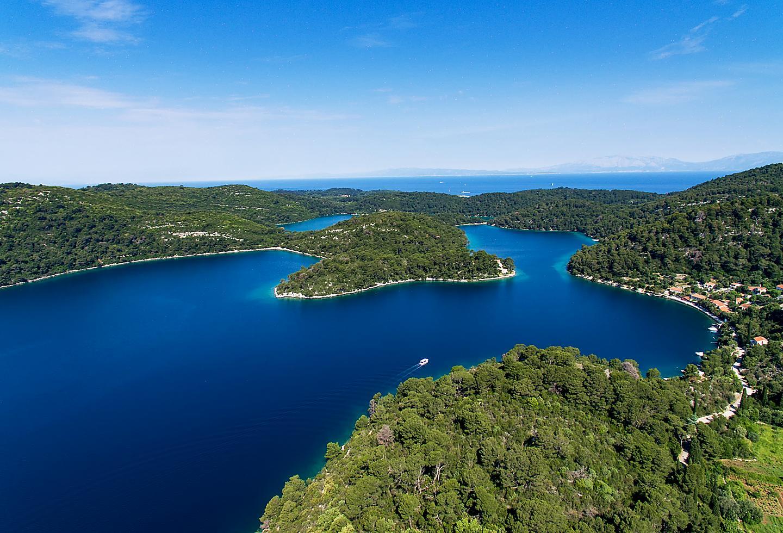 Croatia Mljet Island Aerial