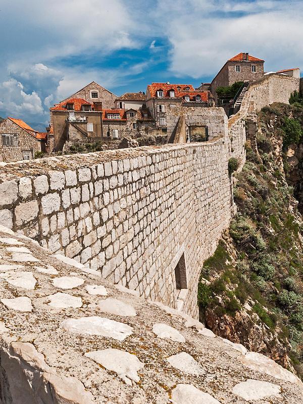 Seaside Walls in Dubrovnik, Croatia