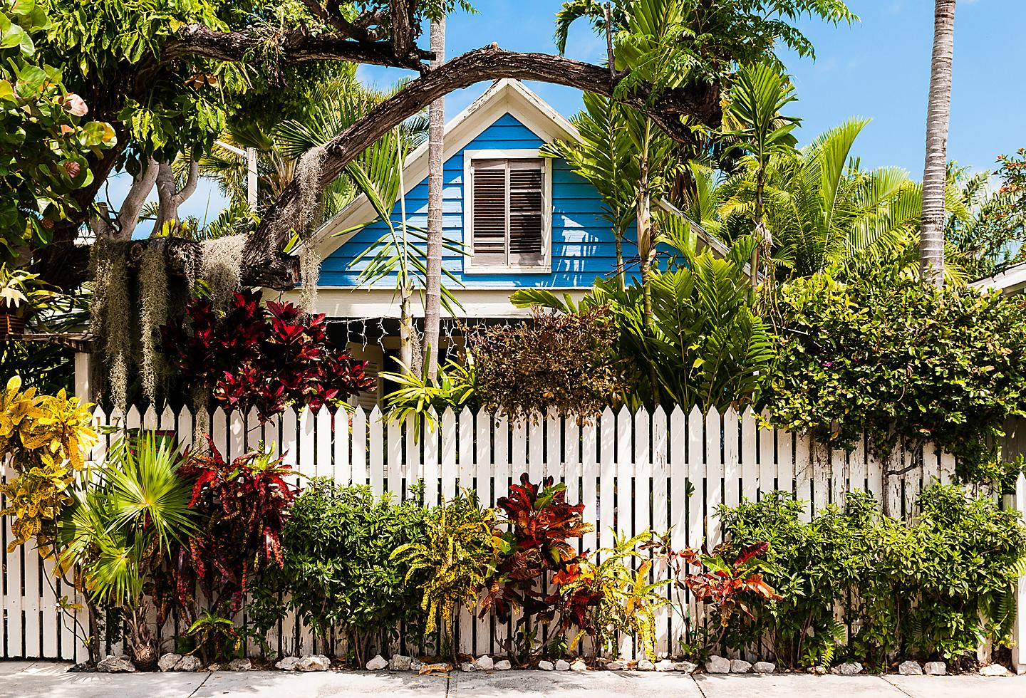 Colorful houses in Key West Florida