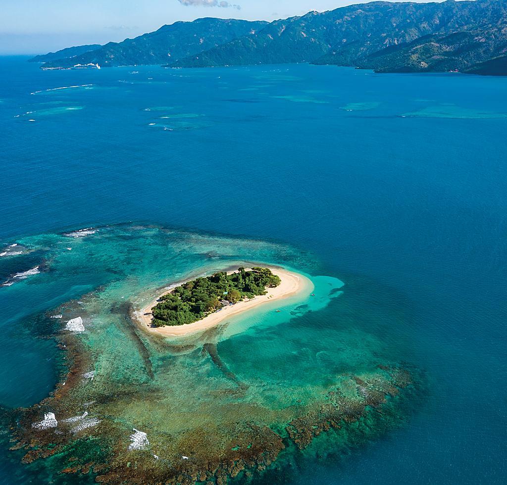 Amiga Island Eastern Caribbean Aerial View